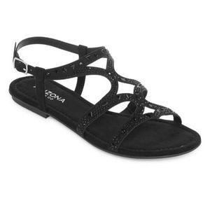 NWT Arizona Marley Flat Sandals in Black